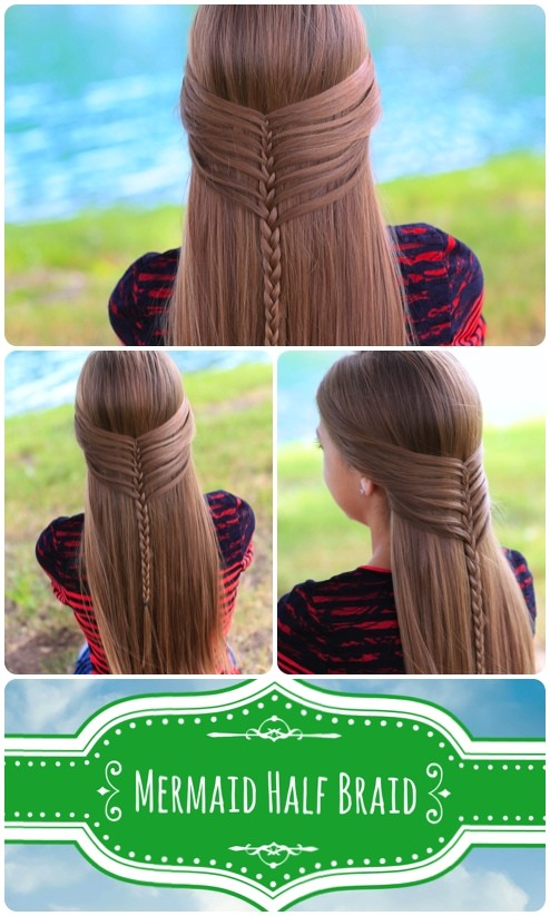 mermaid half braid