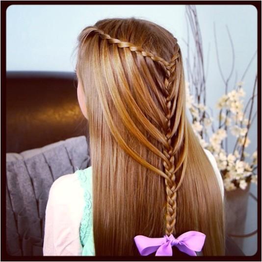 waterfall twists into mermaid braid cute hairstyles