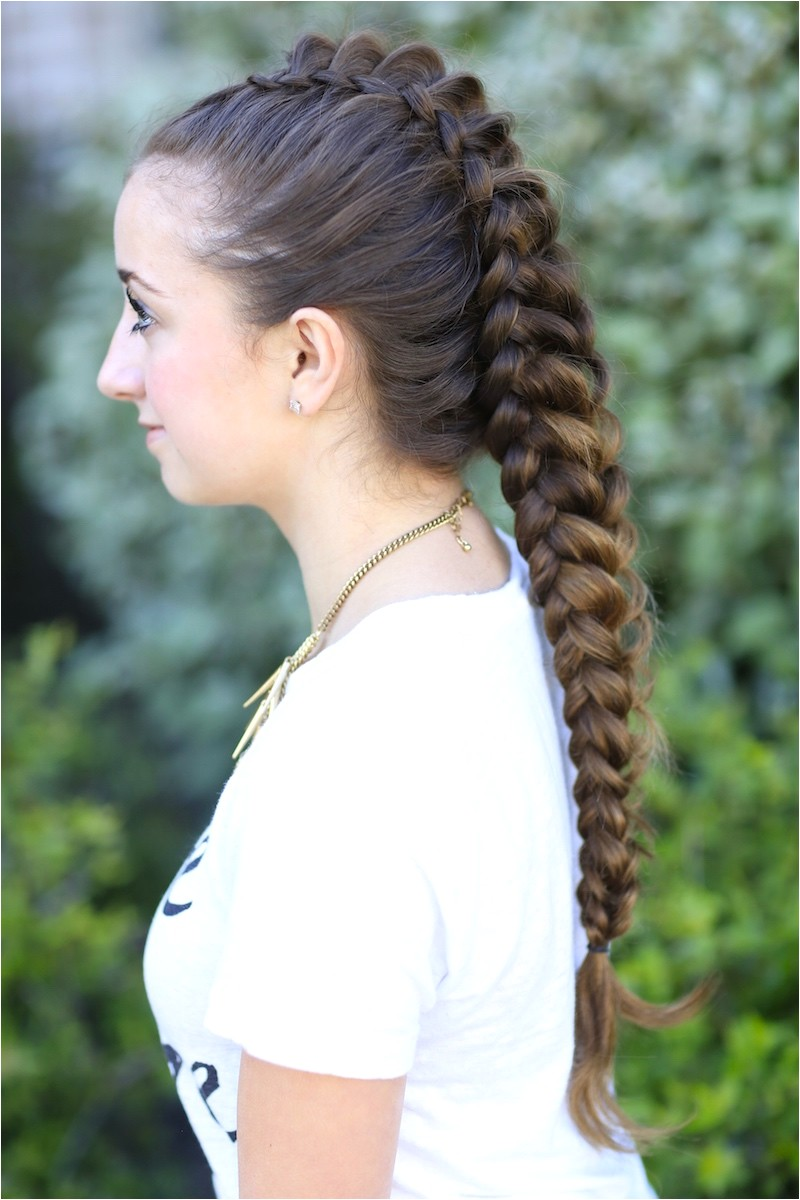 how to create a dragon braid