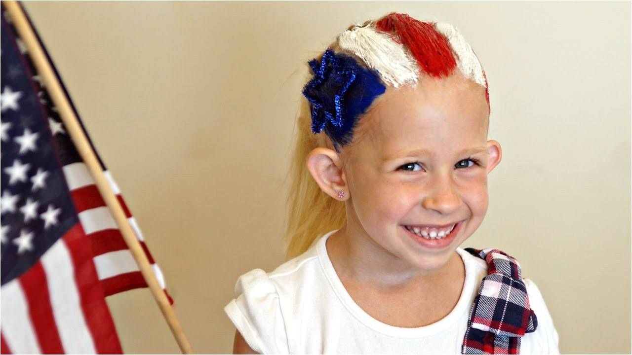 Cute Hairstyles for 4th Of July 4th Of July Flag Hairstyle Hair 101 Cute Tutorial