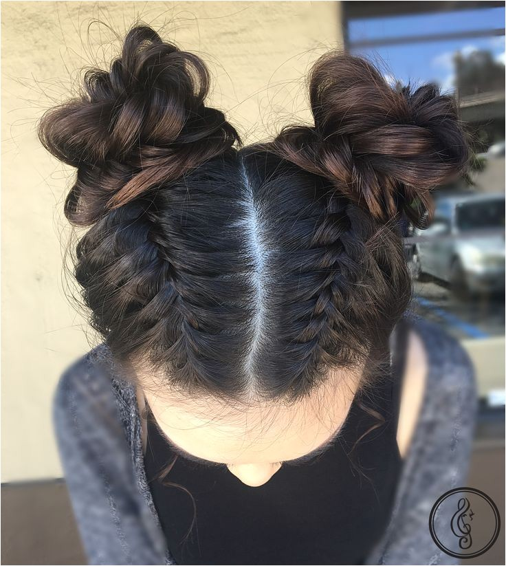 braids and space buns