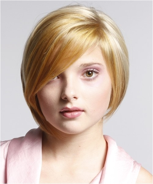 cute short hairstyles for round faces