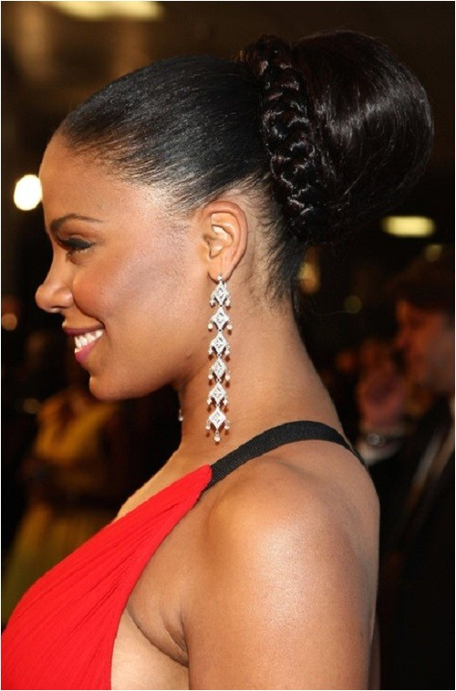 cute bun hairstyles for african