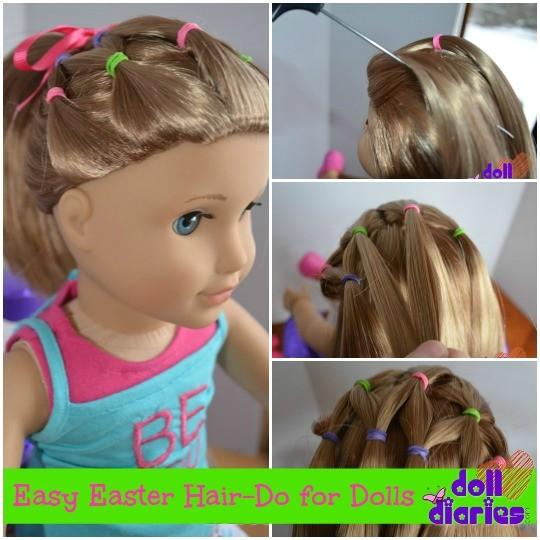 easy easter hair do for dolls