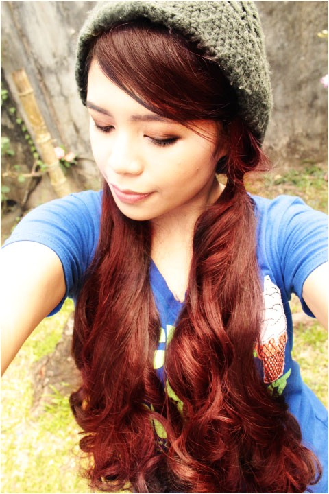quick and easy hairstyle for beanies