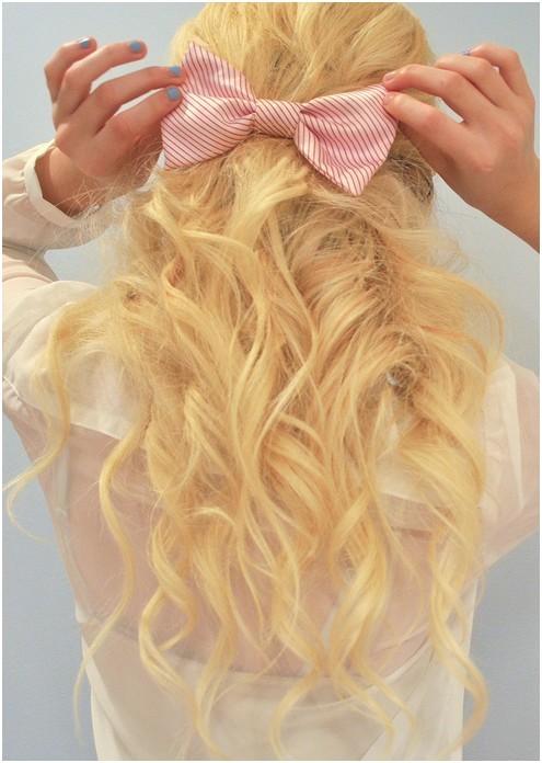 long blonde hair back view