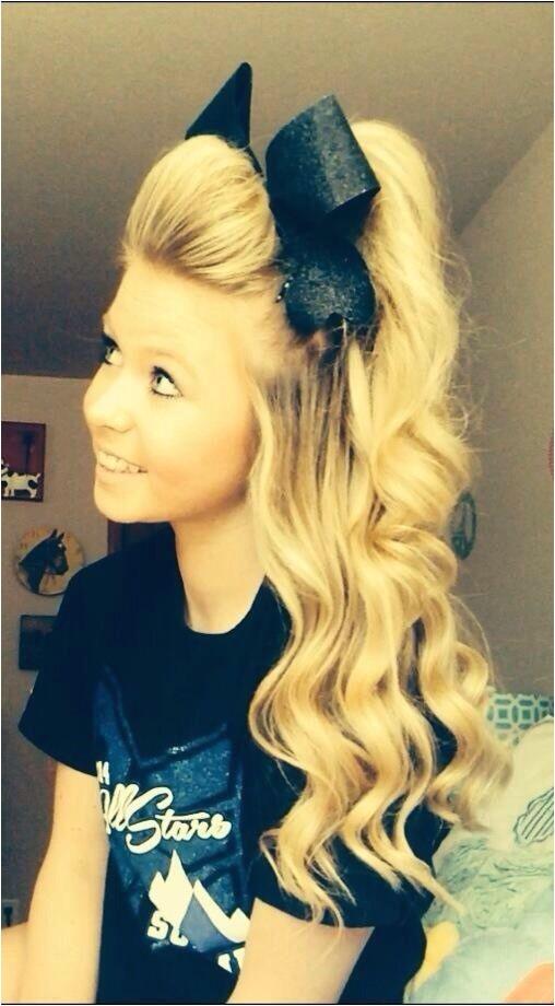 cheerleader hairstyles