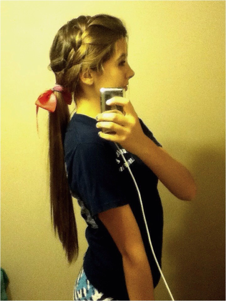 Cute Hairstyles for Cheer 1