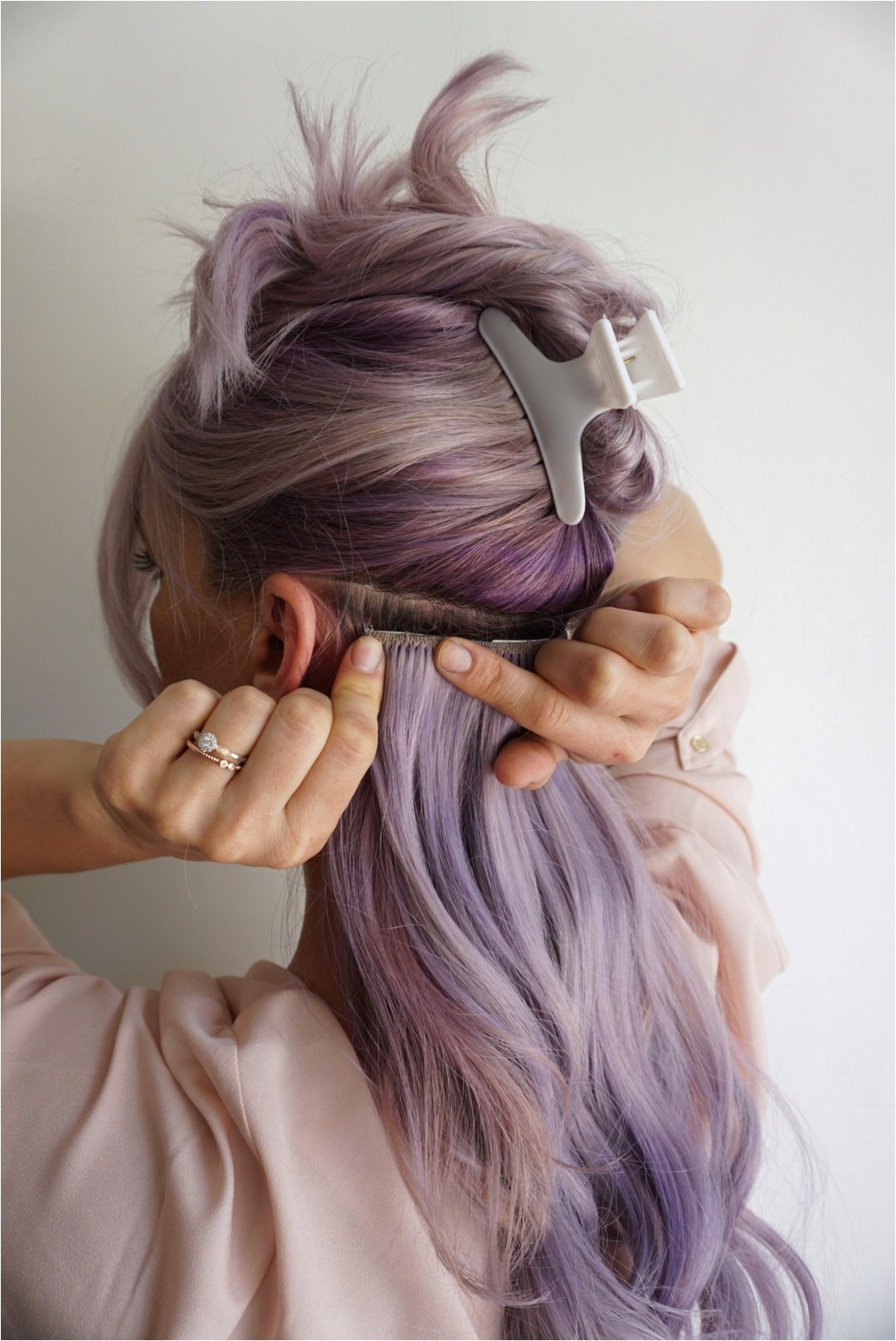 tips for applying clip in hair extensions