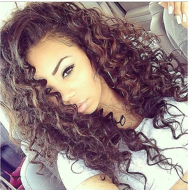 cute hairstyles for curly hair tumblr