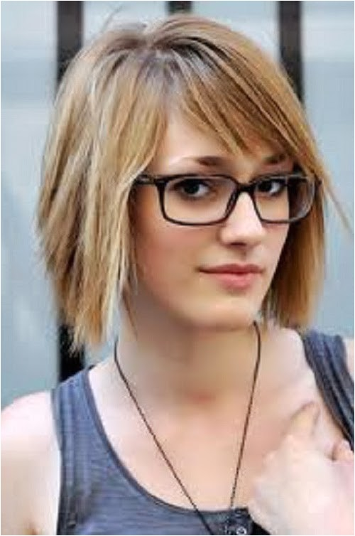 simple hairstyles for short hair for school with glasses images