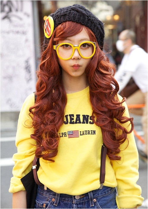 very cute long hairstyles for girls with glasses