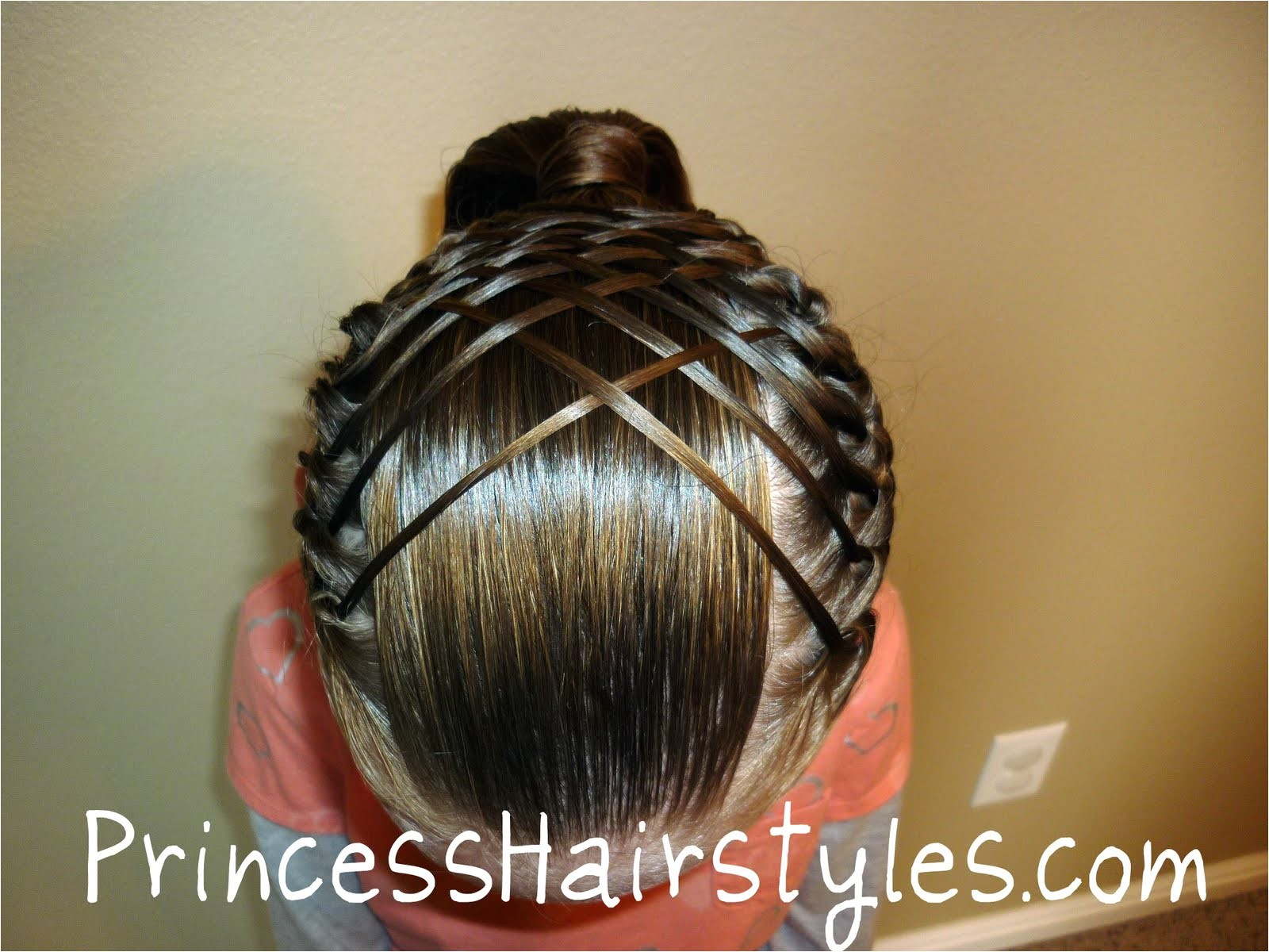 woven french braid ponytail