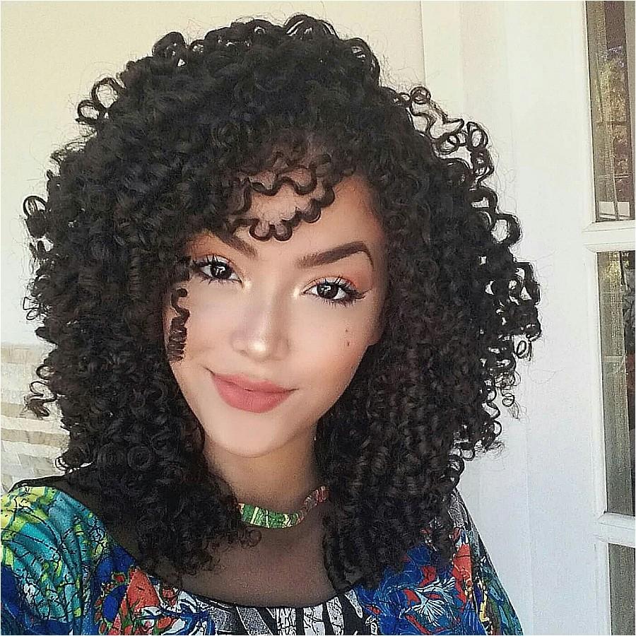 cute kinky curly hairstyles