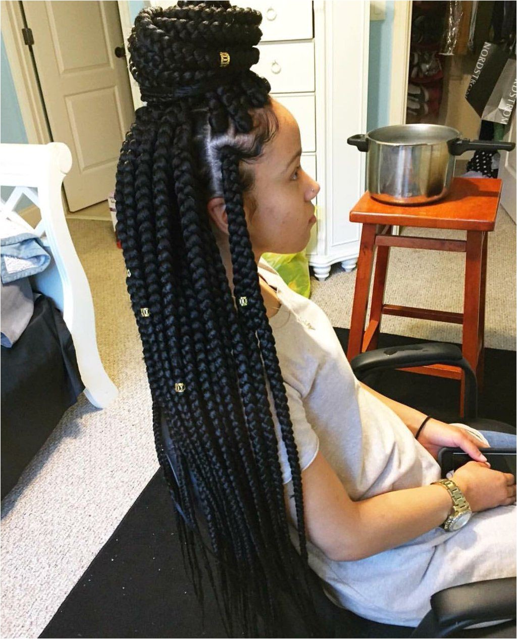 44 Box Braids Hairstyles to Give Touch of Modern Reggae