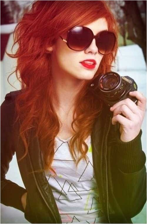 cute hairstyles for long red hair