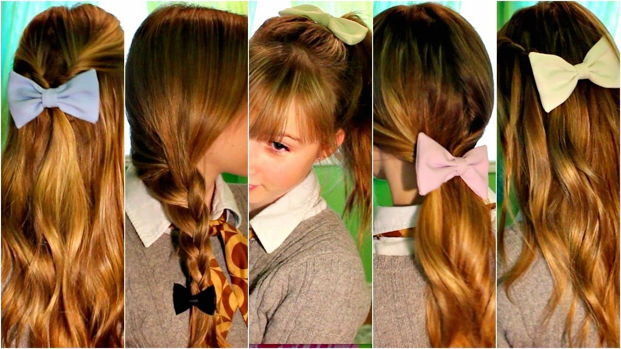 6 cute hairstyles for school