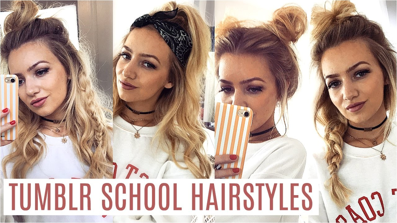 pretty hairstyles for school tumblr