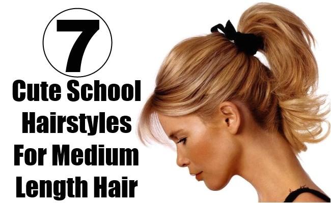 7 cute school hairstyles for medium length hair