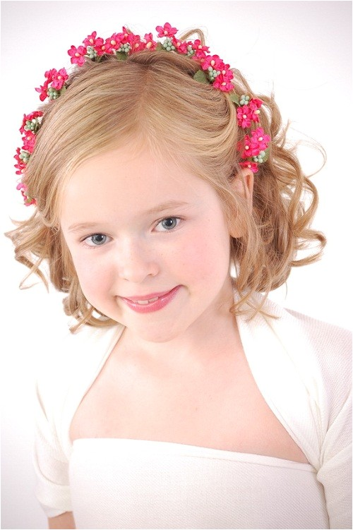 cute hairstyles for kids girls with short hair for party