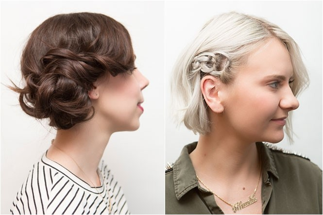 2 styles for dirty hair