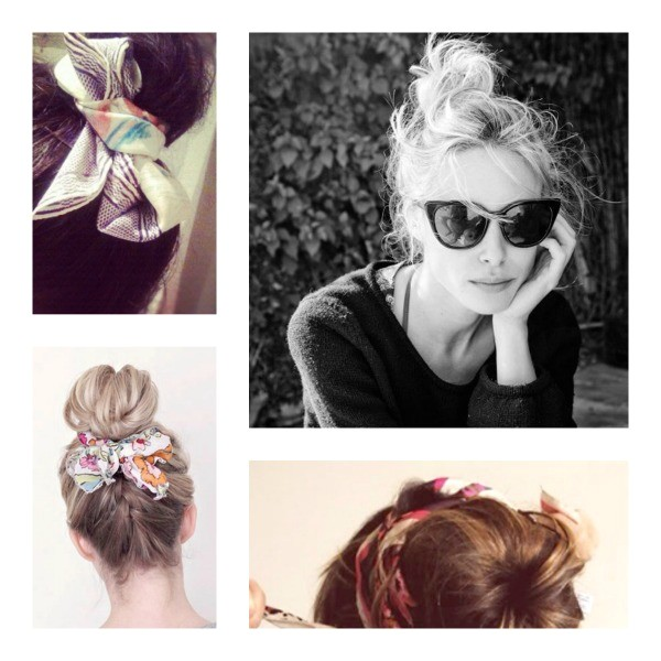 hairstyles with scarves for long hair