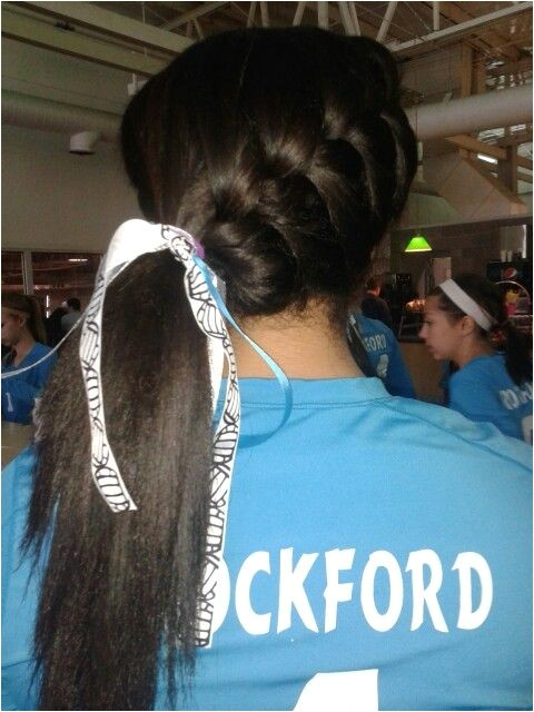 hairstyles for volleyball pictures
