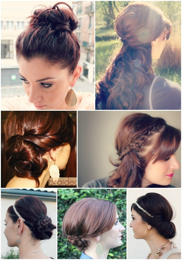 15 hairstyles you can do in less than 5 minutes
