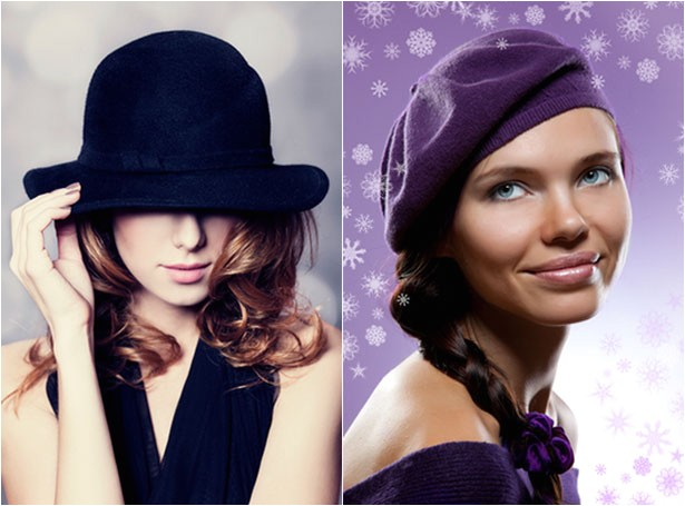 hairstyles to wear with winter hats