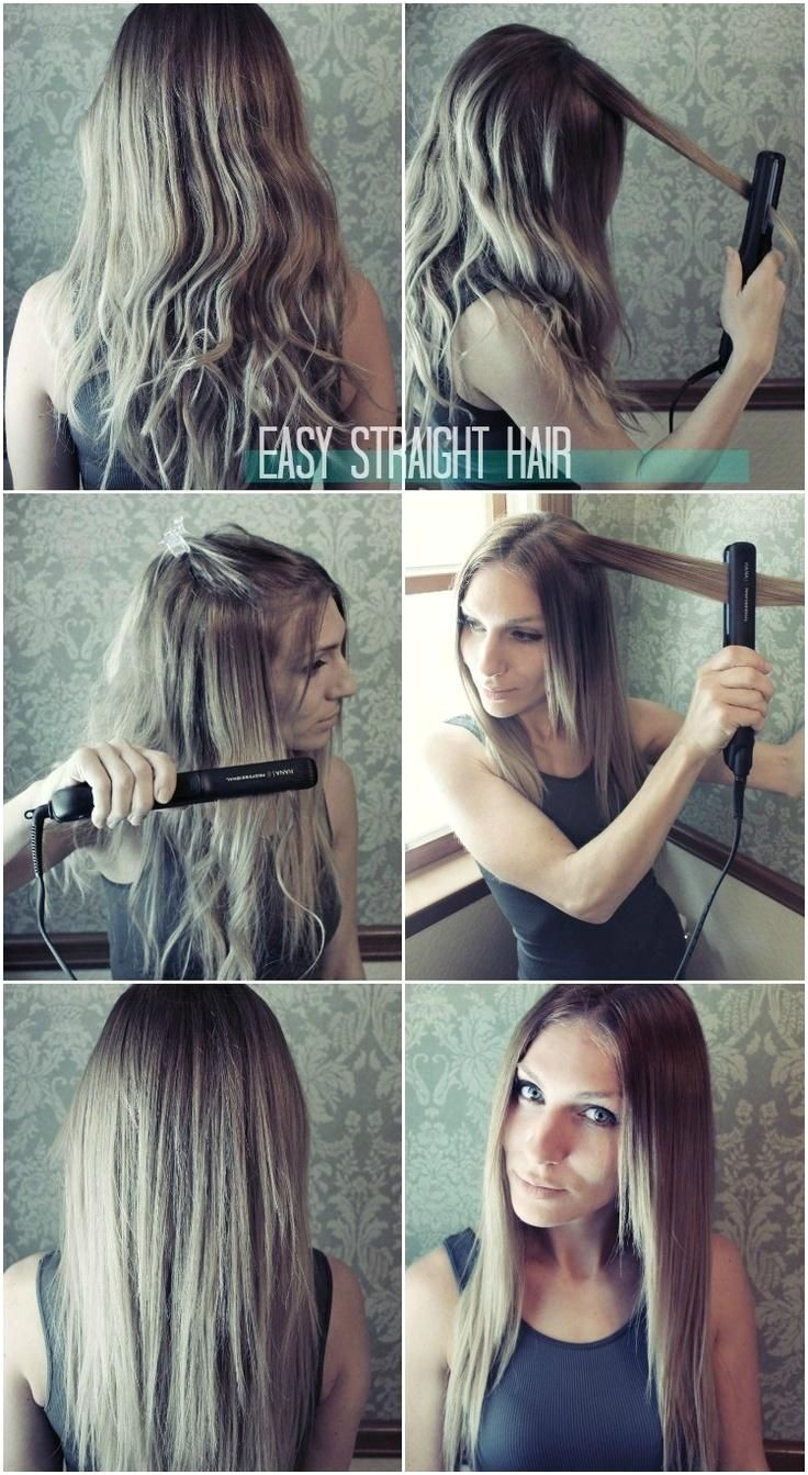easy straight hairstyles for girls how to straighten hair