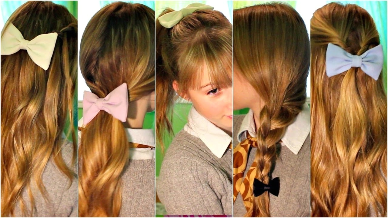 cute hairstyles with bow clips