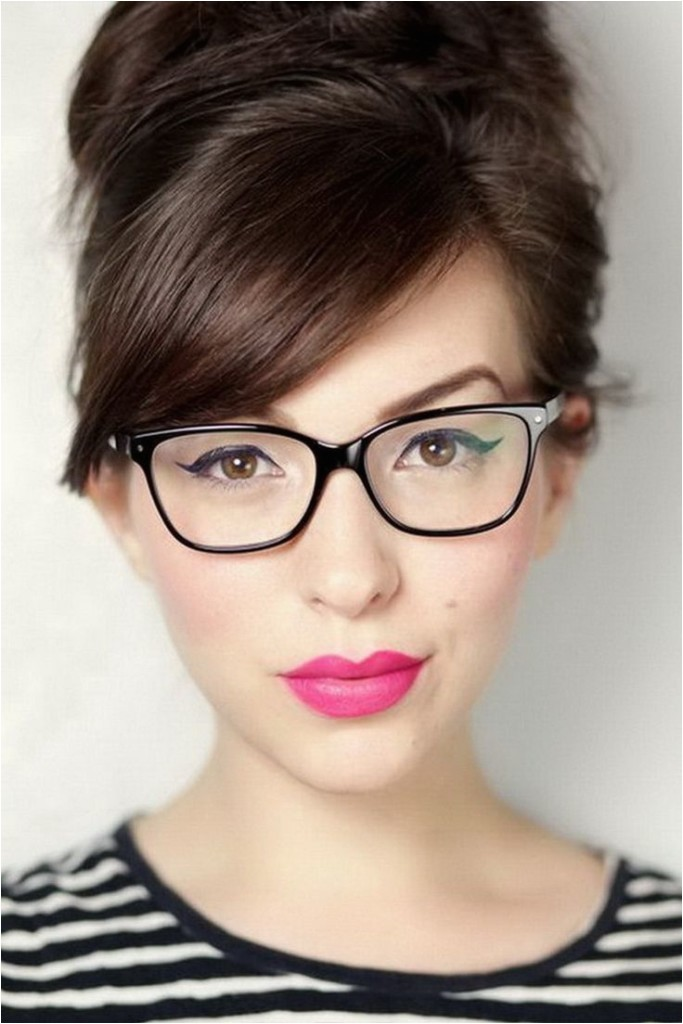 bangs with glasses hairstyles
