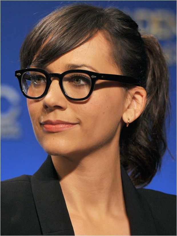 hairstyles with bangs and glasses