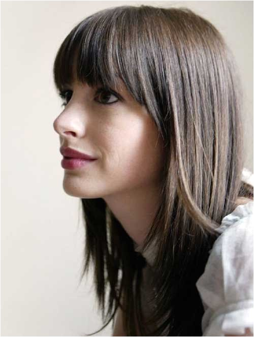 Cute Hairstyles with Straight Across Bangs 15 Best Haircuts for Girls with Long Hair