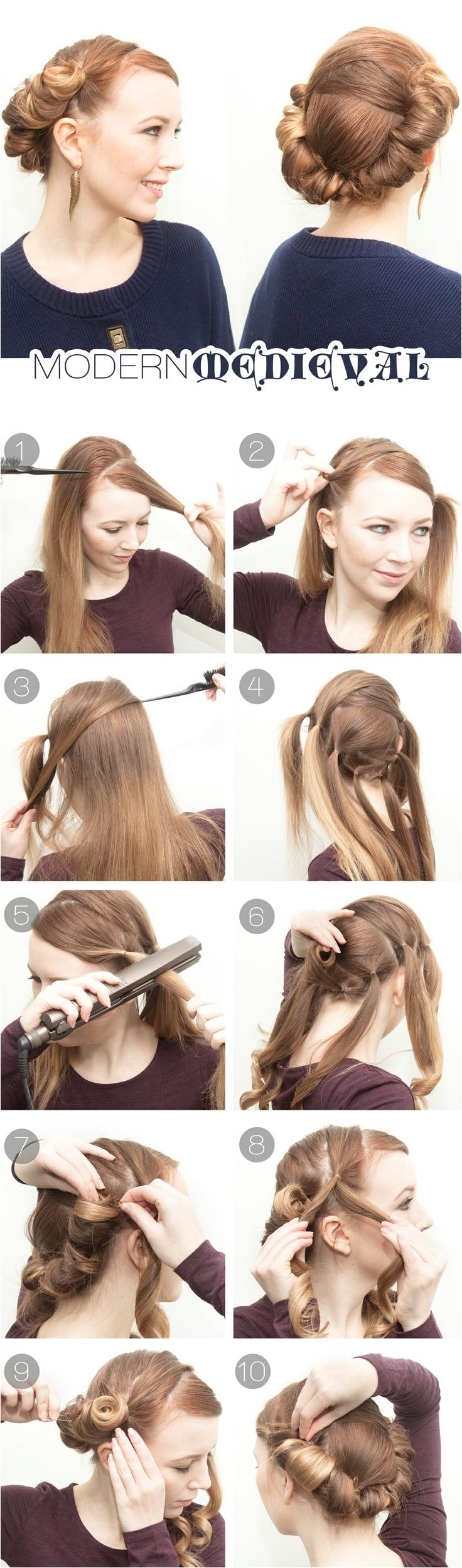 genius hairstyles you can do with a flat iron
