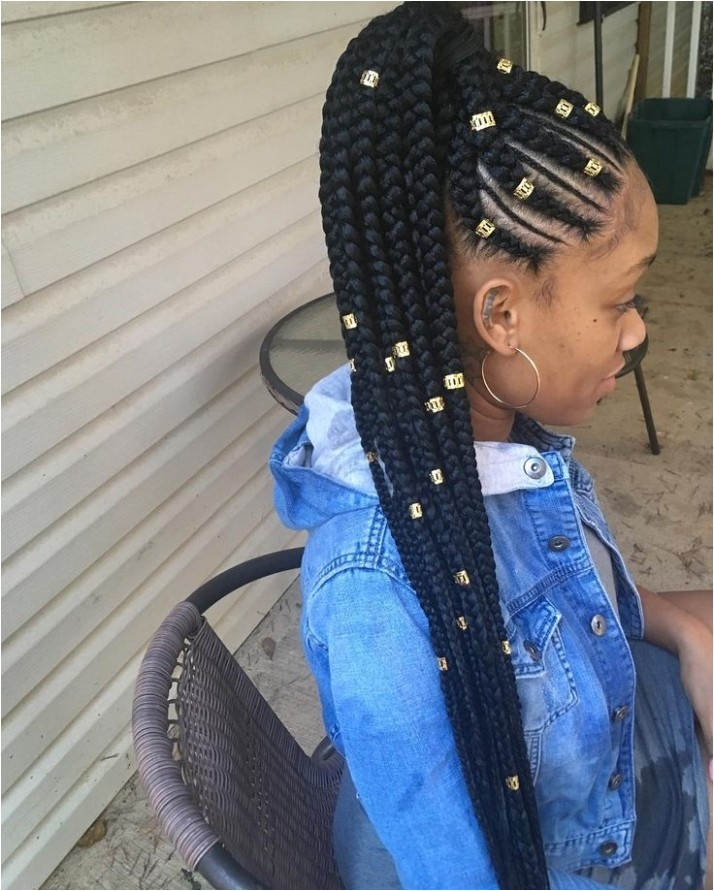 excellent cute hairstyles with weave braids idea