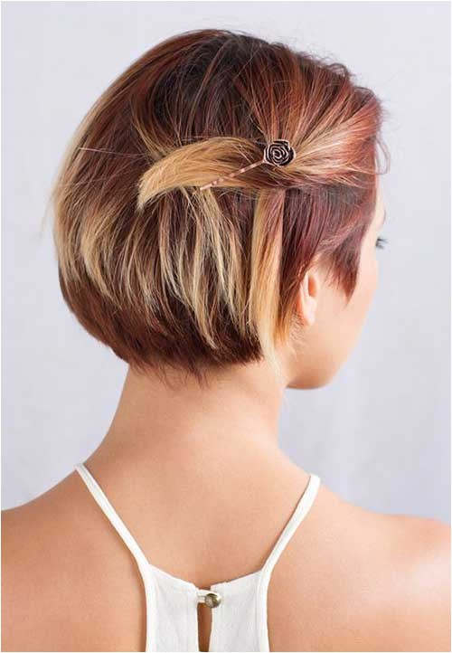 cute hairstyles for short hair without bobby pins