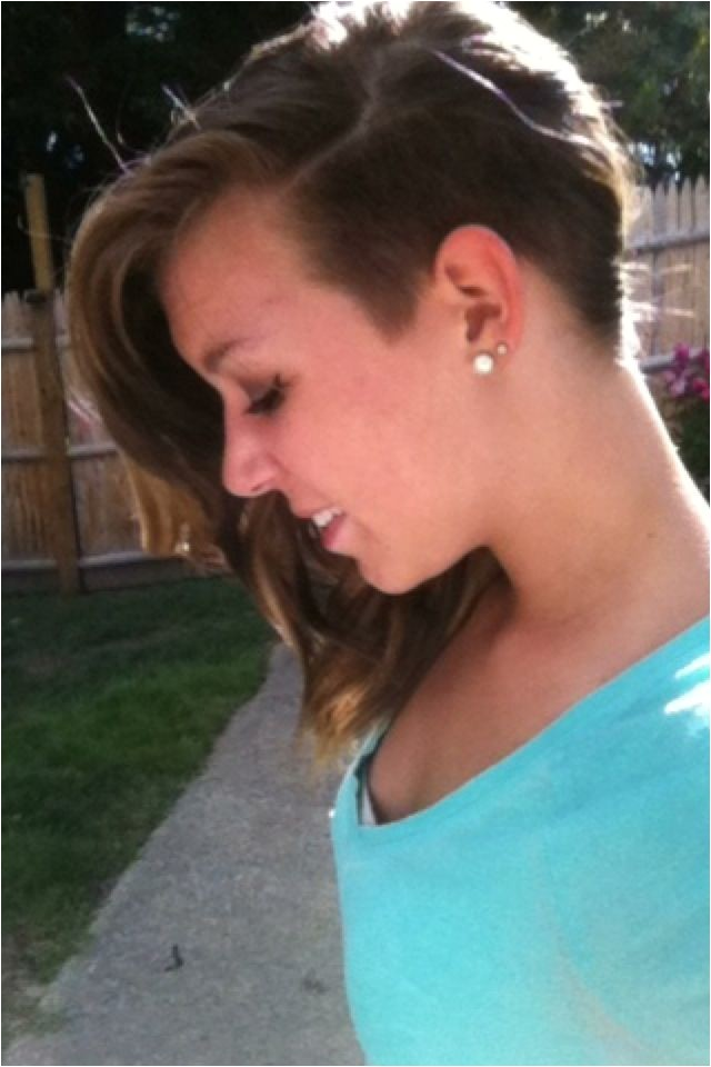 Cute Half Shaved Hairstyles 1