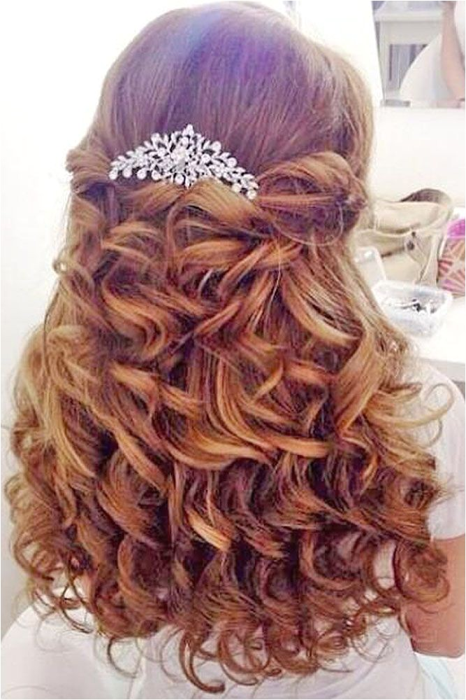 wedding hairstyles for long hair flower girl