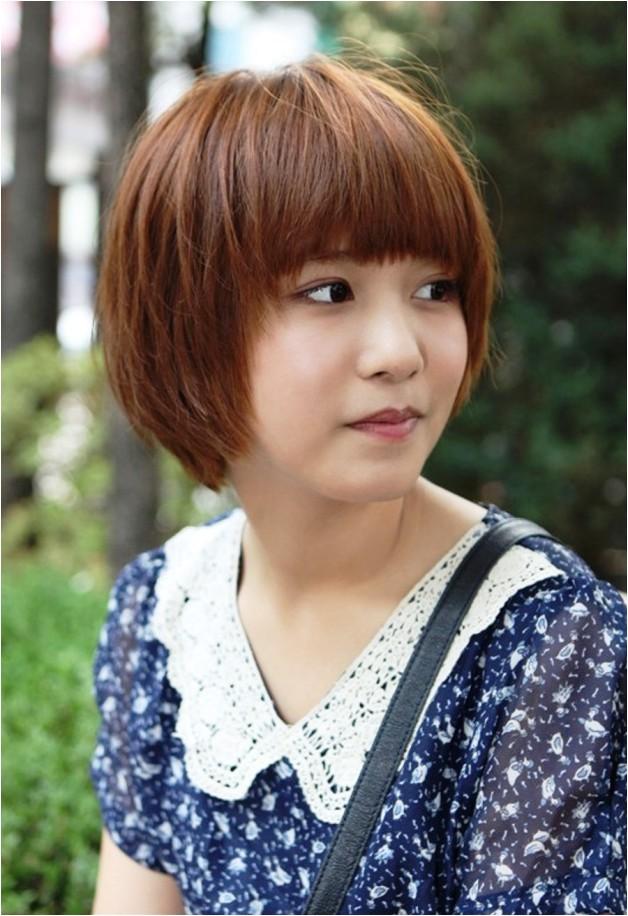 cute short korean bob hairstyle