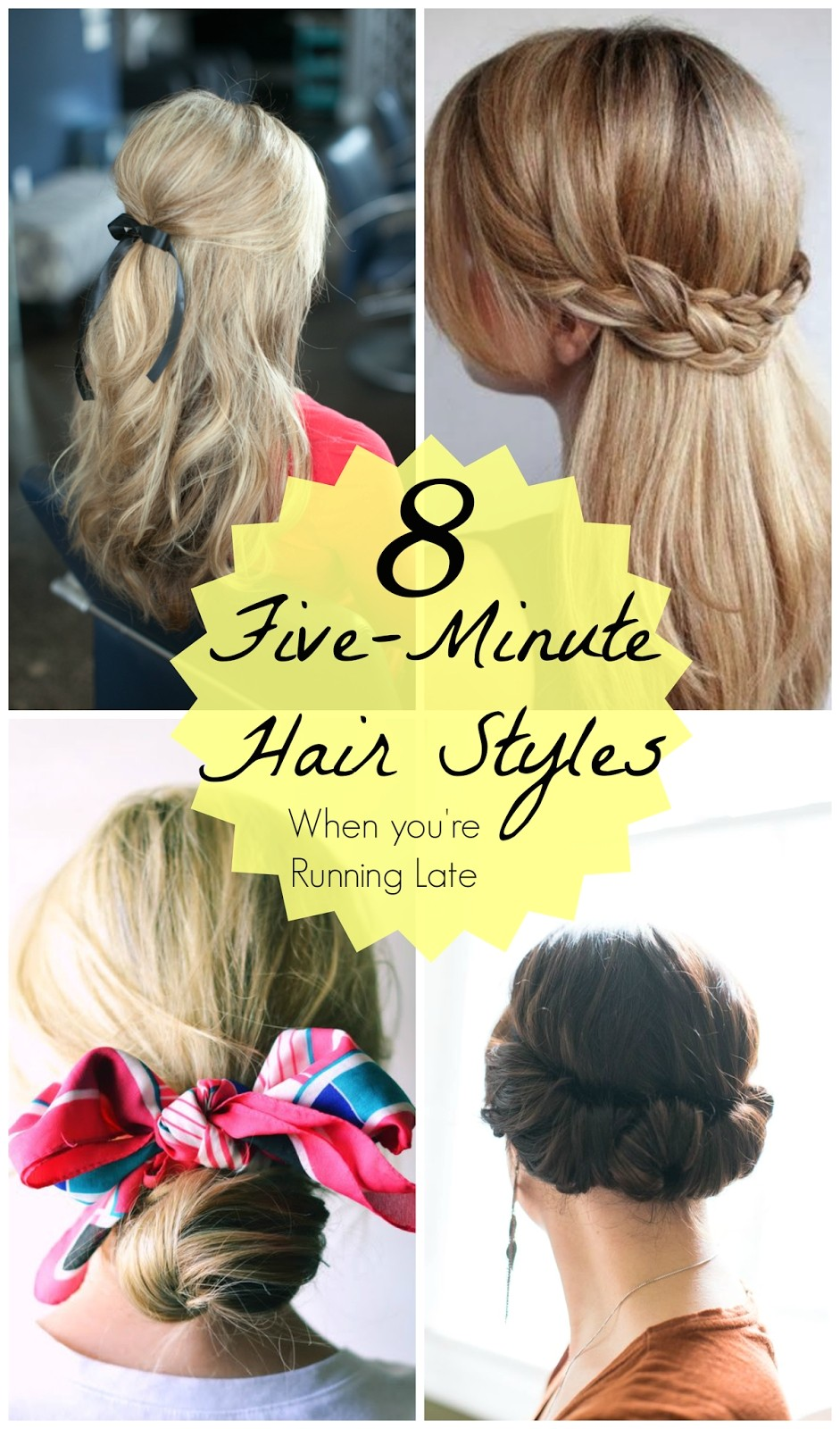 5 minute hairstyles for girls