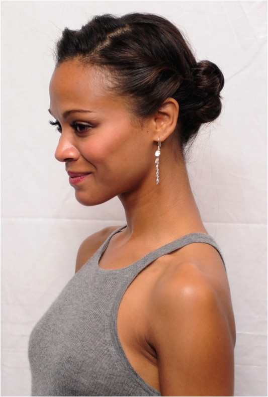 Cute Simple Hairstyles for African American Hair African American Daily Hairstyles Zoe Saldana Cute