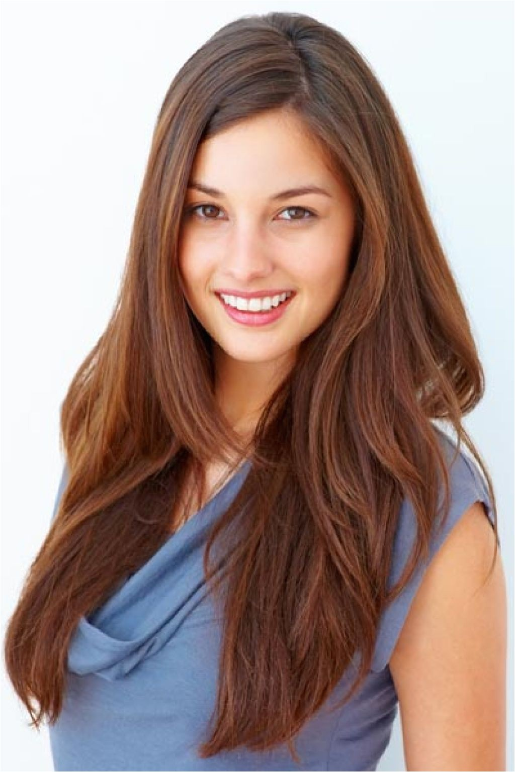 laser cut hairstyle long hair