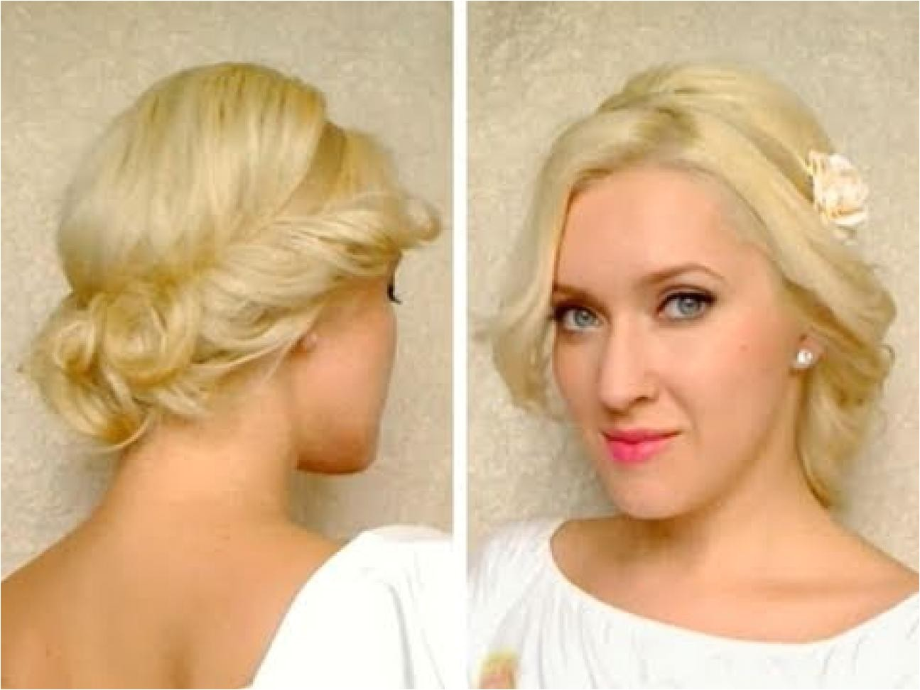 medium hair length cute easy curly updo hairstyle for long 4