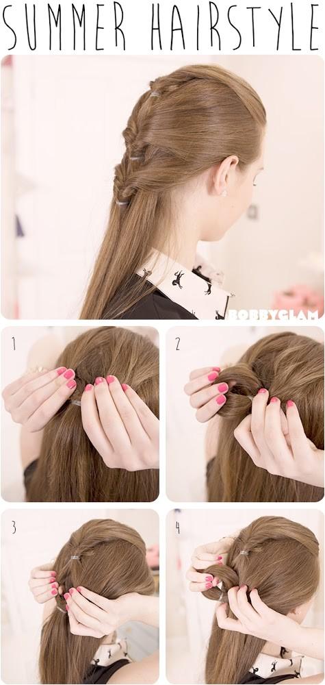 cute summer hairstyle hair tutorial