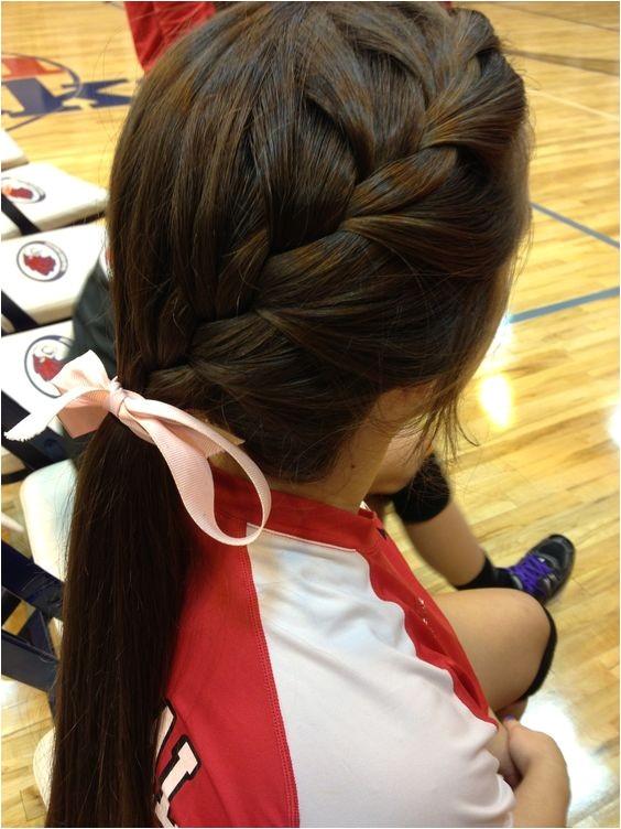 cute volleyball hair