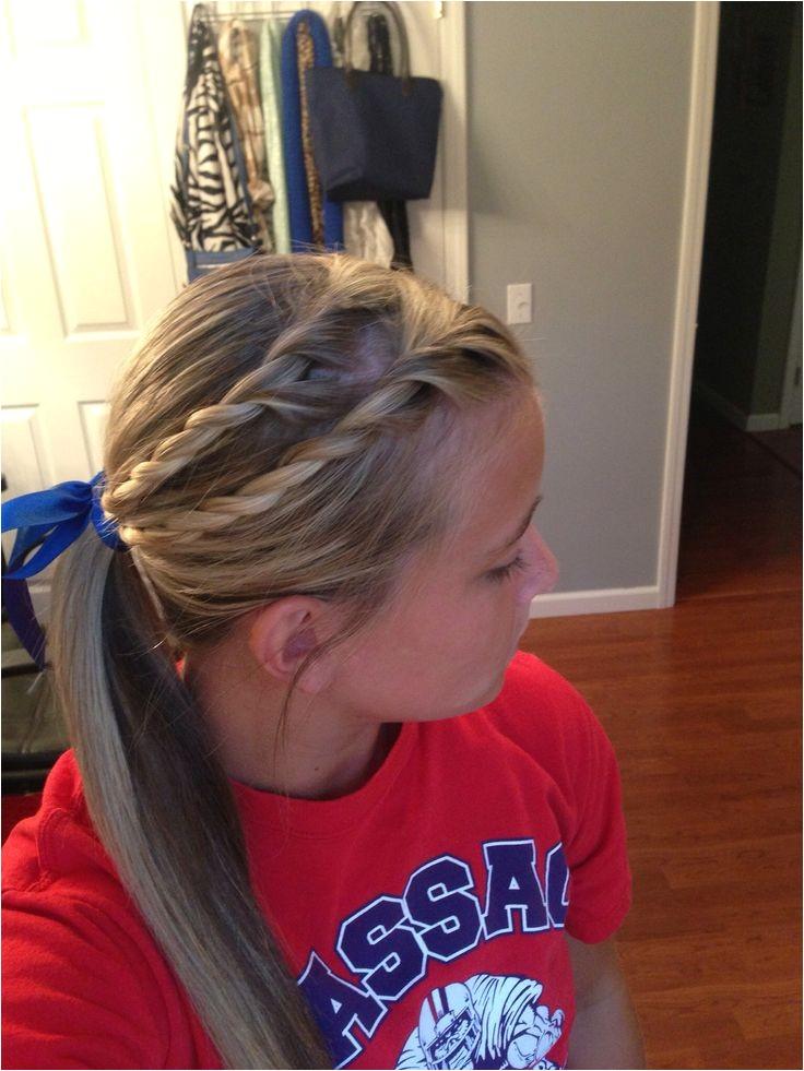 softball hairstyles bows