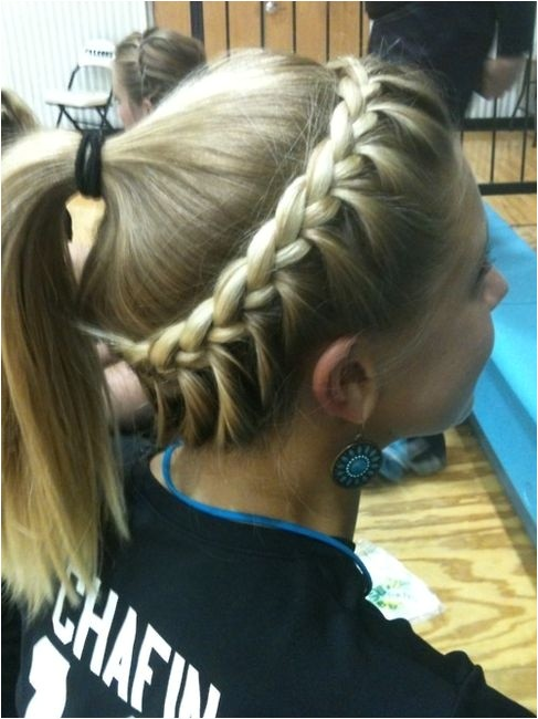 softball hair braided hairstyle ponytail for sports