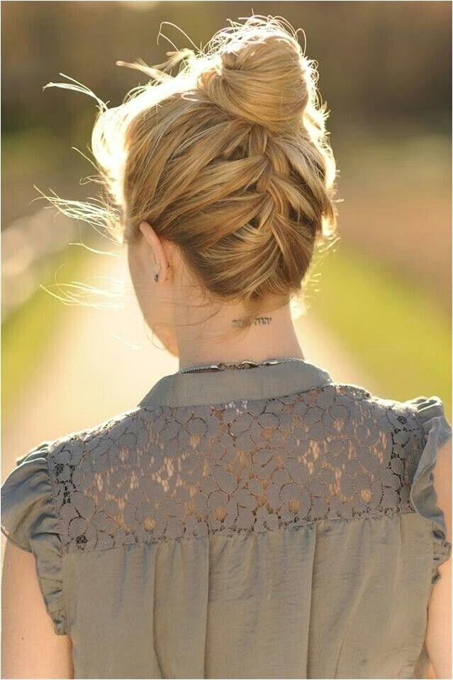 fresh updos for medium length hair