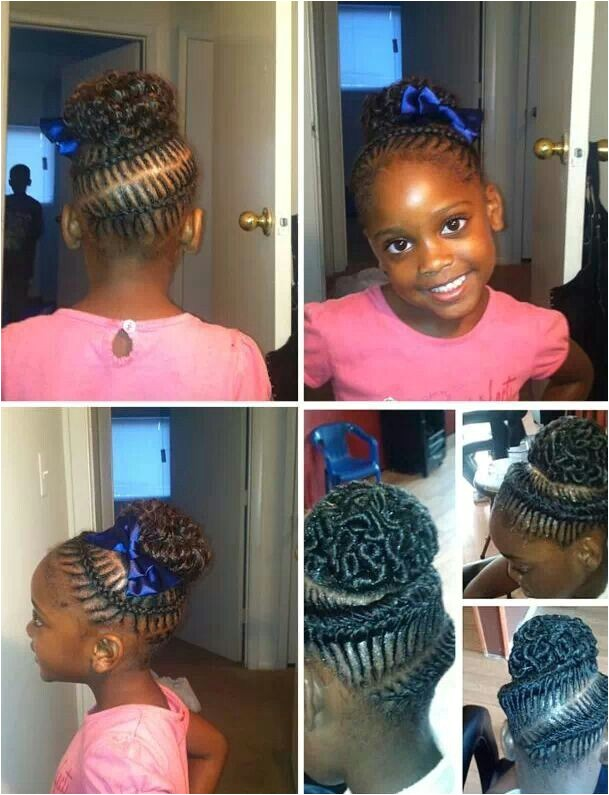 cute short kinky curly spiral hairstyles with cornrow for